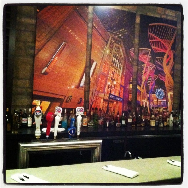 Stephen Ave, looking stylish behind the bar