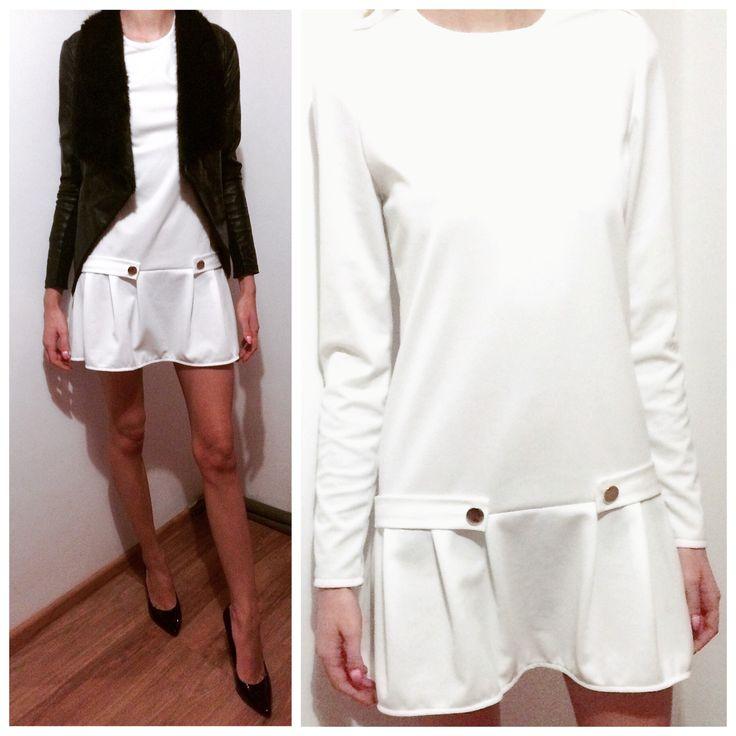 Sukienka FOUR  Rozmiary: xs,s,m,l Kolory: ecru, pudrowy róż Cena: 159 PLN https://www.facebook.com/POQASH/