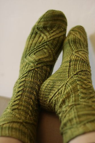 Ravelry: chanina's hand knit Birthday socks: Hand Knitted Socks, Sock Knitting Pattern, Gorgeous Socks, Green Socks, K Socks Gloves, Handknit, Birthday Socks, Chanina S Birthday
