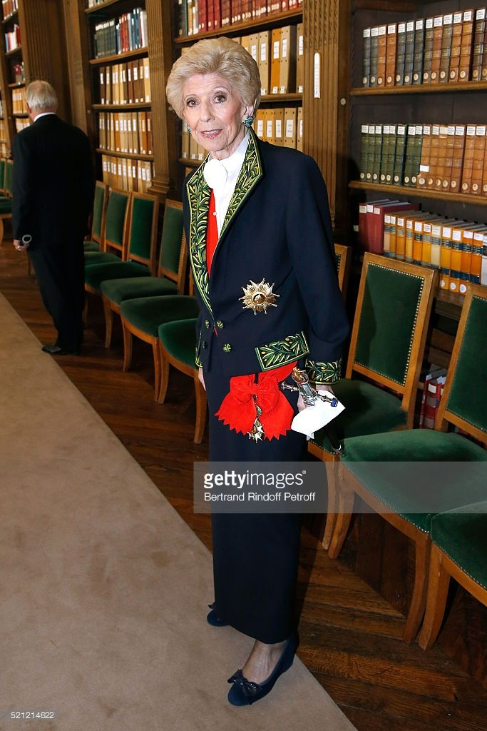 PARIS, FRANCE - APRIL 14: Permanent Secretary of 'Academie Francaise' Helene Carrere d'Encausse attends Marc Lambron becomes a Member of the Academie Francaise : Official Ceremony on April 14, 2016 in Paris, France. (Photo by Bertrand Rindoff Petroff/Getty Images)