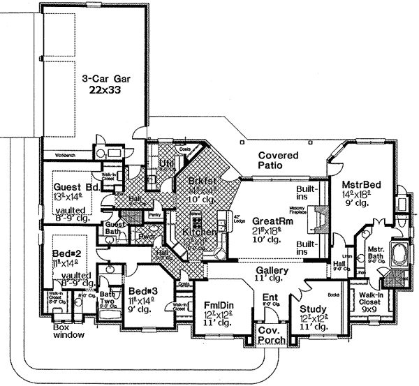 17 best images about ranch houseplans on pinterest for Ranch floor plans with bonus room