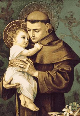 St. Anthony of Padua was a Franciscan Priest from Portugal. He was a great preacher and miracle-worker. During a time when heresies were causing confusion, St. Anthony's homilies and street preaching had converted many back to the true faith. It was said that even the fish from the ocean would come and listen to him!  Many people today ask St. Anthony for help when they lose something. He is the patron saint of lost items! His feast day is on 13 June.