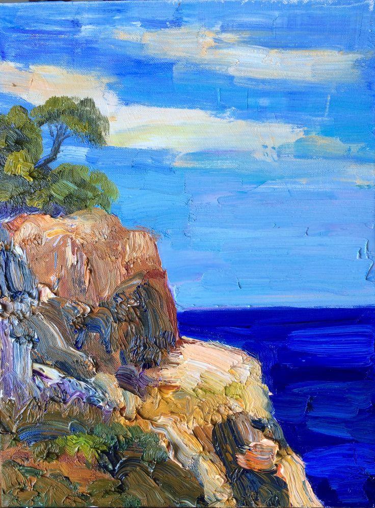 irina iza  sea and cliffs