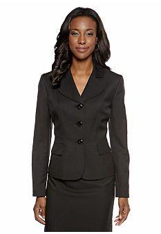 Le Suit Plus Size Three Button Staple Jacket - Belk.com