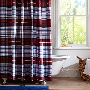 Best Plaid Shower Curtain Ideas On Pinterest Rustic Cabin