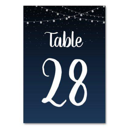 Wedding Table Number in Starlight Lantern Pattern - patterns pattern special unique design gift idea diy