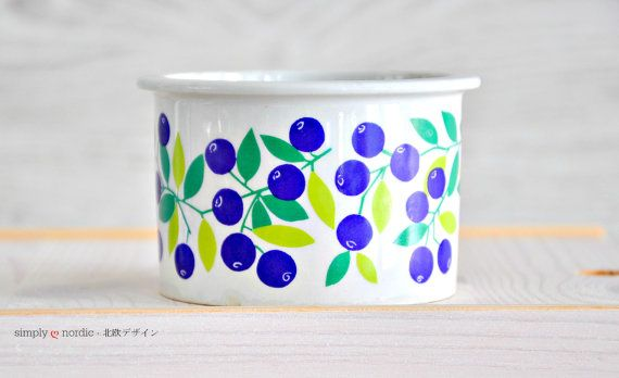 Vintage Jam Pot Canister Blueberry Pomona by SimplyLoveNordic, €35.00