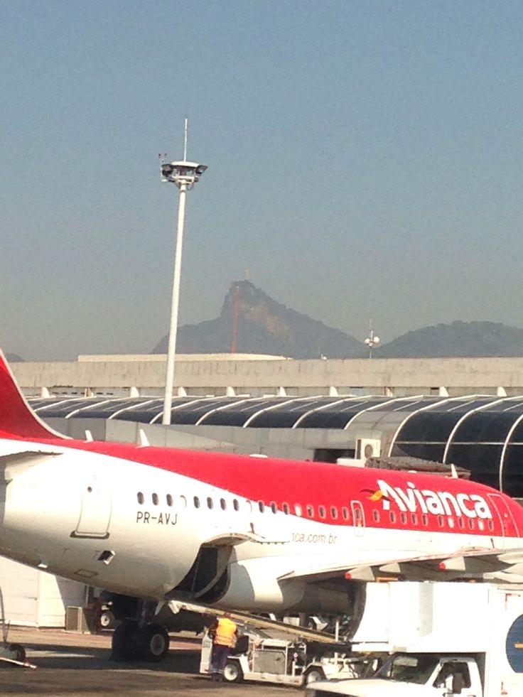 Rio de Janeiro airport. See the Jesus in the background wishing us a safe flight? :-)