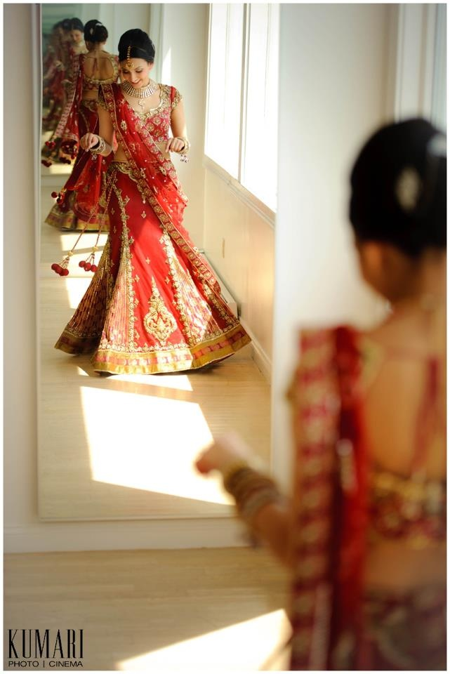 Indian Weddings. T might give her this dress, because of T's heritage.