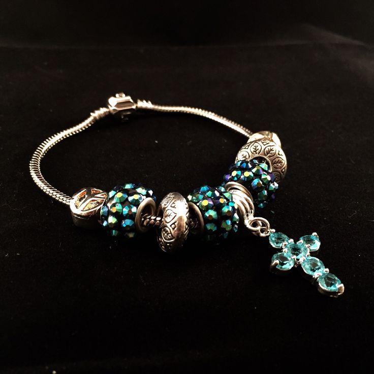 Pandora style Charm Bracelet by HaydeeDesigns on Etsy https://www.etsy.com/listing/223562127/pandora-style-charm-bracelet #handmade #jewelry #etsyshop #jewelrydesign #jewelryonetsy