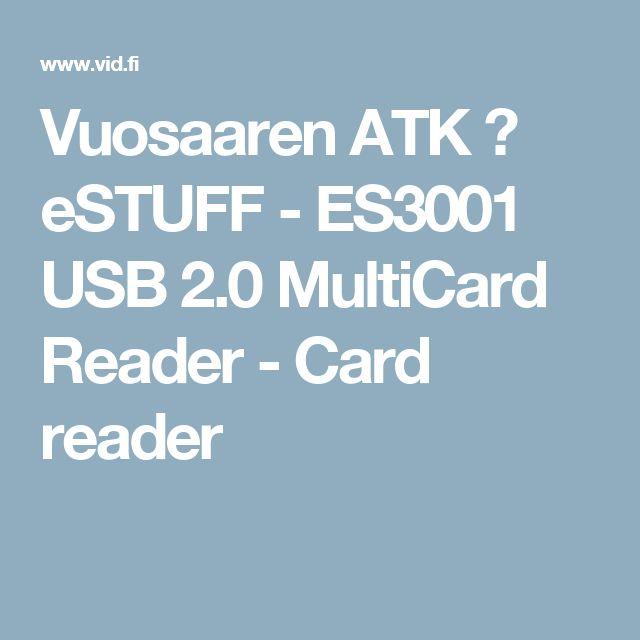 Vuosaaren ATK ➟ eSTUFF - ES3001 USB 2.0 MultiCard Reader - Card reader