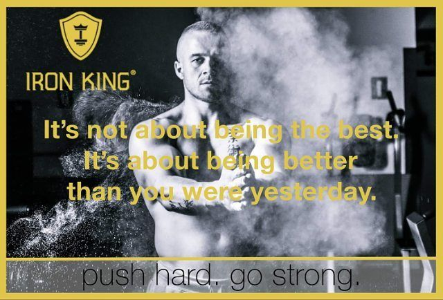 It's not about being the best.  It's about being better than you were yesterday. www.iron-king.eu  #ironking #iron_king_body #pushhard #gostrong #healthylifestyle #muskelaufbau #training #trainingsprogramm #fit #fitness