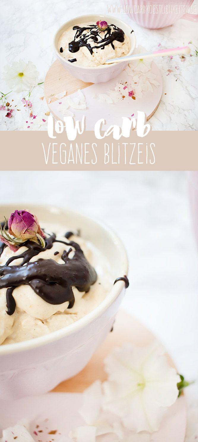 Low Carb veganes Eis, super schnell hergestellt und lecker cremig! www.lowcarbkoestlichkeiten.de