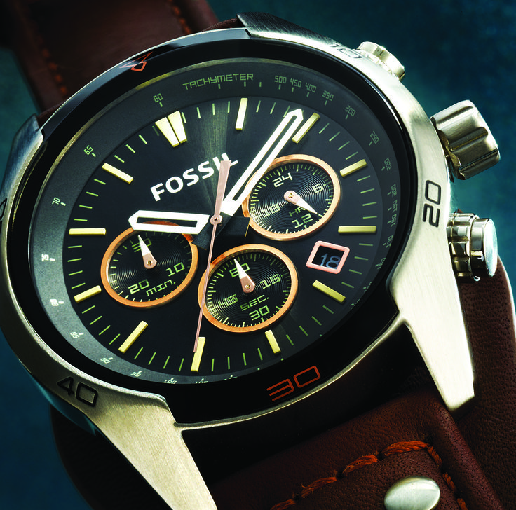Fossil watch, available at Selected Sterns stores