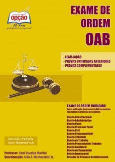 Apostila para o XII Exame de Ordem Unificado da OAB - Conselho Federal da Ordem dos Advogados do Brasil - 2013