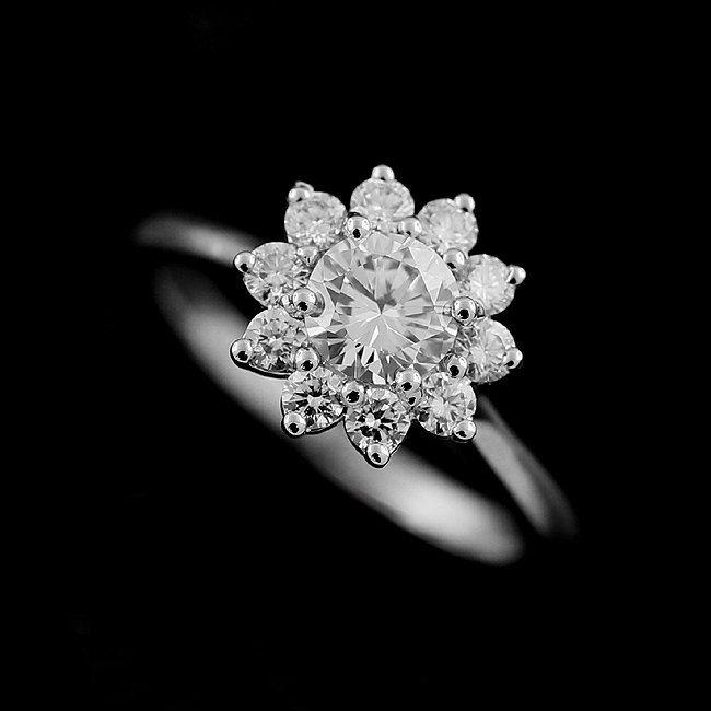 Best 25 Flower Diamond Rings Ideas On Pinterest Flower