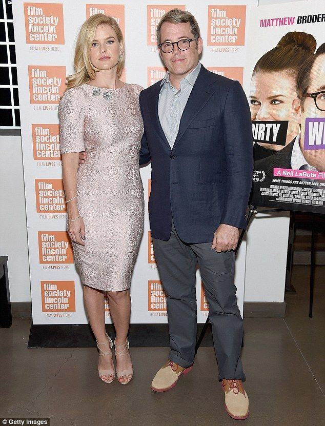 Sparkling: Alice Eve caught the eye in a champagne-hued dress while attending a Q&A for ne...