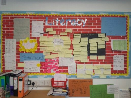 My literacy working wall for Edith Nesbit's 'five children and it'.