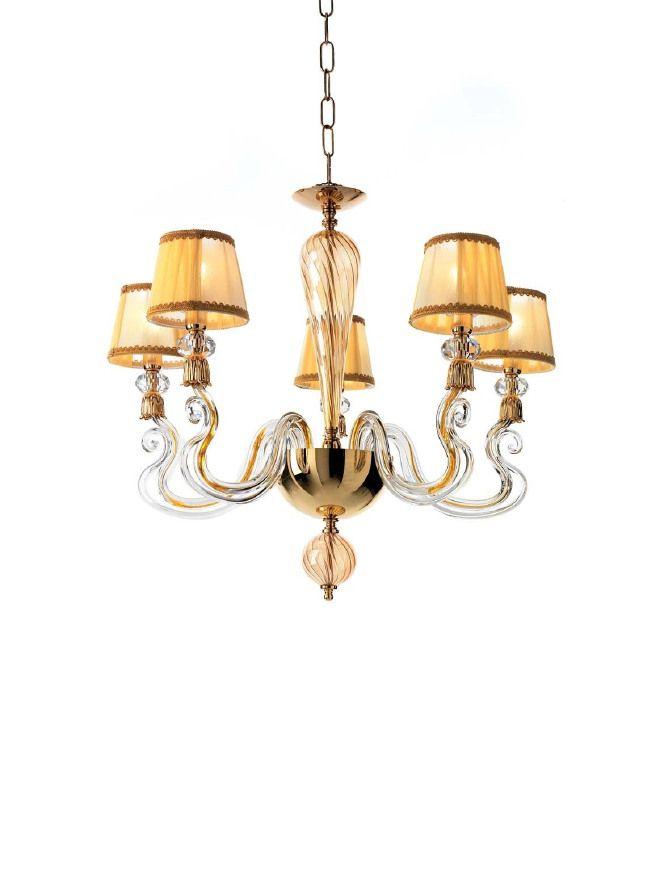 ciciriello lampadari : LAMPADARIO 5 LUCI collezione PETUNIA di Ciciriello Lampadari