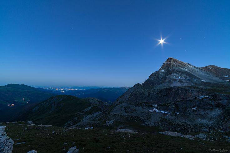 Chersogno al chiaro di luna - Monte Chersogno al chiaro di luna Bivacco Bonfante - Alpi Cozie - Valle Maira - Cuneo