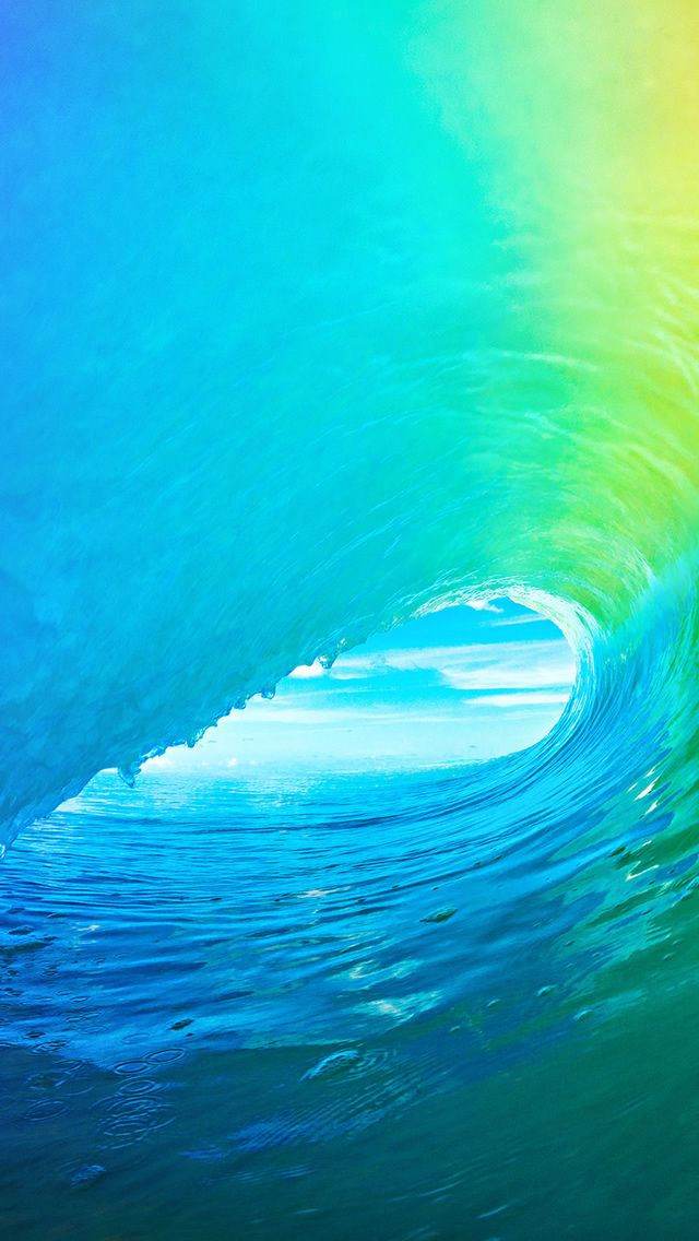 ocean wallpaper iphone ios9 apple wave rainbow pattern iphone 5s 12728