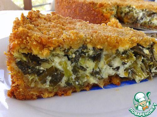 Закрытый сырный тарт со шпинатом - кулинарный рецепт