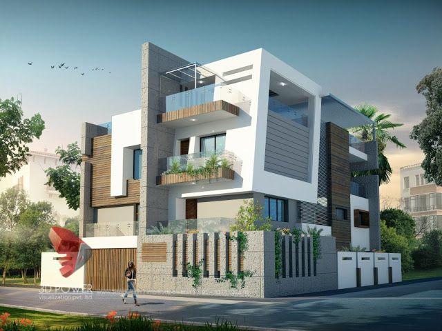 3d animation, 3d rendering, 3d walkthrough, 3d interior, cut section, photomontage in india:   3D Bungalow