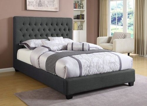 Chloe Charcoal Queen Size Bed 300529Q