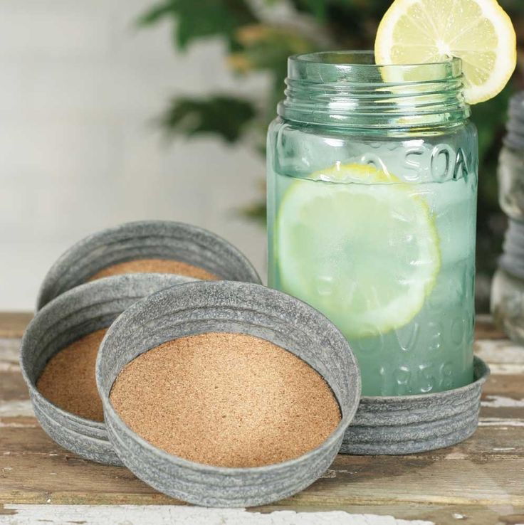 These are rustic coasters that will adorn any table or bar. They absorb and do…