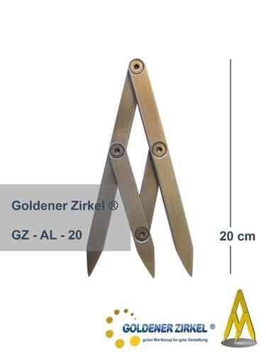 Ein Goldener Zirkel erleichtert Gestaltung Goldener Schnitt, perfekt!
