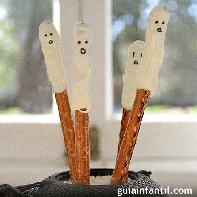 Fantasmas salados de Halloween.