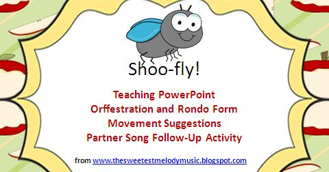 """""""Shoo Fly"""" is one of my favorite songs to teach. The students love it! I typically use it with 2nd or 3rd grade to add some nice """"orff-..."""