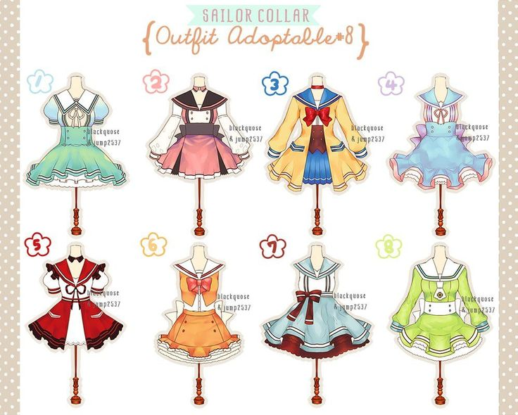 [CLOSED] Sailor Collar Outfit Adoptable#8 by Black-Quose