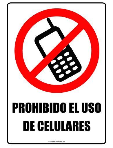 Señal de Prohibido Celular