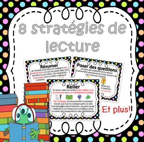 This PDF file includes 8 French Reading Strategies posters. The posters included are: 1. Résumer 2. Poser des questions 3. Relier 4. Prédire 5. Visualiser 6. Déterminer l'importance 7. Déduire 8. Combiner des idées