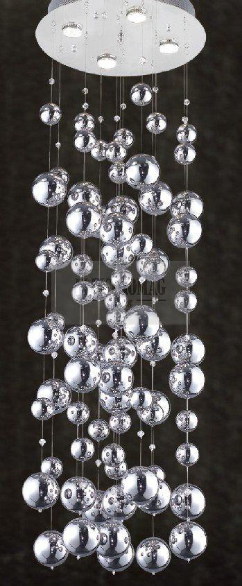 Azzardo Lampa wisząca Rain MD9722B-4 : Lampy wiszące szklane : Sklep internetowy Elektromag (#glamour #lamp)