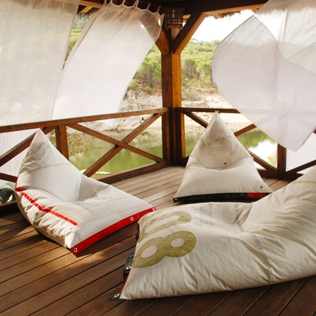 Mondo Collection Bean Bag Chairs Made From Sails
