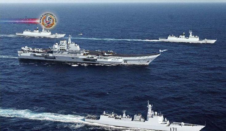 Porta-aviões chinês avistado no Pacífico. Um porta-aviões chinês passou entre as duas ilhas principais na prefeitura de Okinawa, sul do Japão, para...