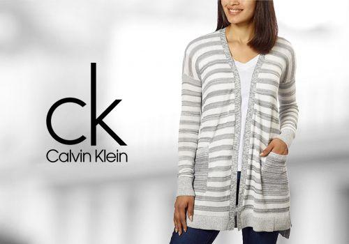 Ελαφριά & άνετη γυναικεία ζακέτα Calvin Klein Jeans σε ριγέ σχέδιο από 79€ Μόνο 39€