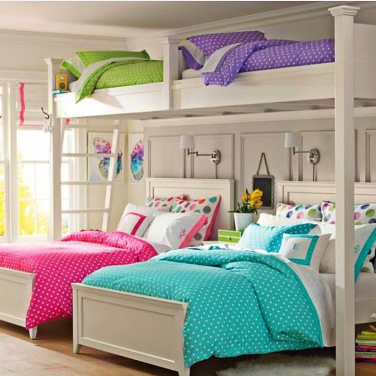 Cute girls bunk beds baby girl nursery bedrooms pinterest cases girls and layout - A nice bed and cover for teenage girls or room ...