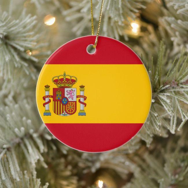 Flag Of Spain Bandera De Espana Spanish Flag Ceramic Ornament Zazzle Com En 2020 Espana Bandera Espana Banderas Espanolas