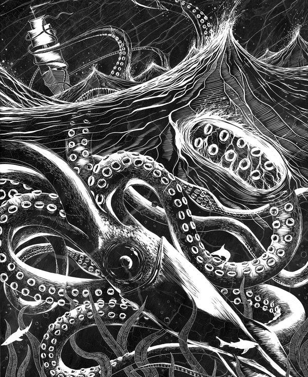 Incredible scratchboard piece. You should check this dude's work out...