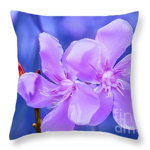 "Flowers 103 Throw Pillow 14"" x 14"""