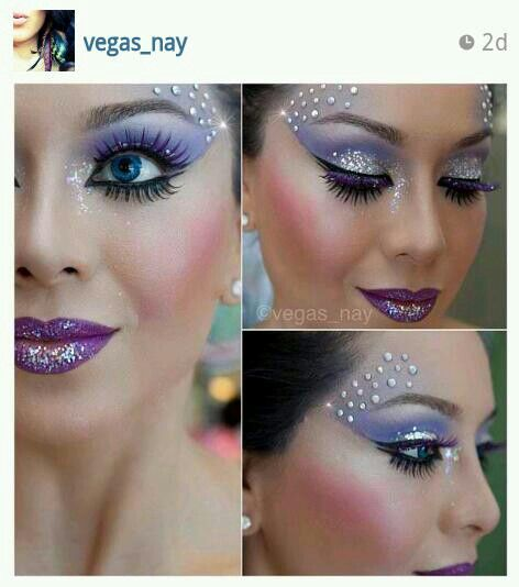 Possible Halloween make up inspiration! (I'm being an angel and I'd do more soft pink and soft purple colours)