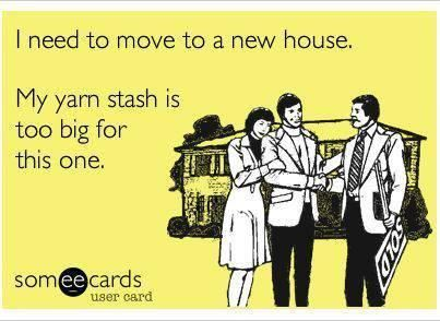 Funny Crafting Images Part 1 - Yarn stash too big for house