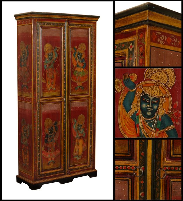 Armadio Due Porte Acacia Legno WD-6023182 X 88 X 35 CM   Arts of India – Italy
