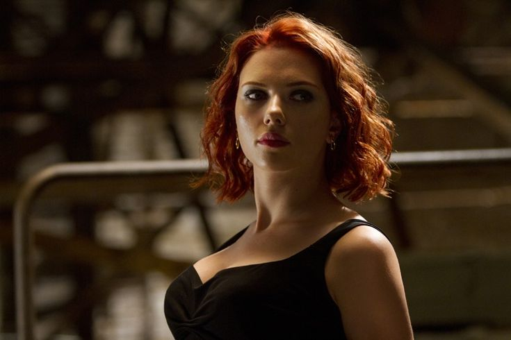 Scarlett Johansson as Natasha Romanoff in 'The Avengers.' I couldn't keep my eyes off her haircut.