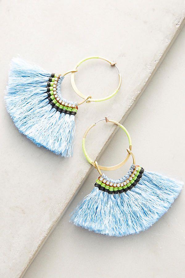 Slide View: 1: Turaco Hoop Earrings