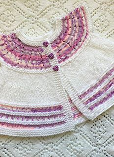 Fairy Isle Angel Cardigan & Hat   <   3-6, 6-9, 9-12 mo & 1-2, 3-4 yrs   +   free pattern   /   cy