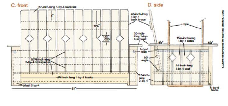 Les 17 meilleures id es de la cat gorie construire un banc for Construire un balcon suspendu